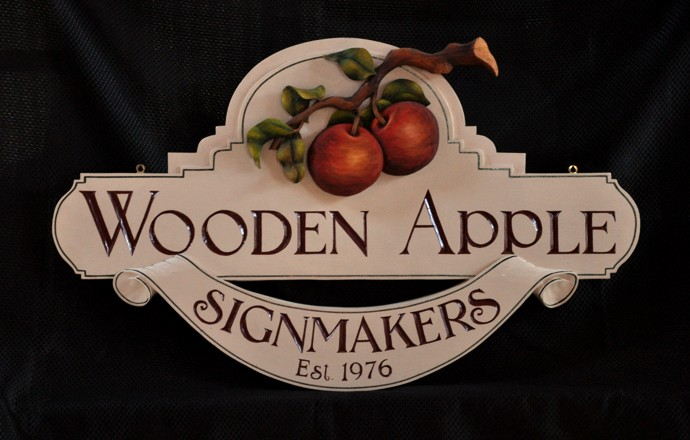 Custom Carved signs by Wooden Apple Signmakers